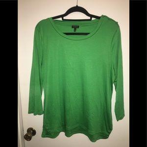 Talbots Green Long Sleeved Designer Shirt